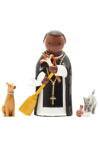 "St. Martin of Porres 3pc Set 3.5"" Statue - Little Drops of Water Series"