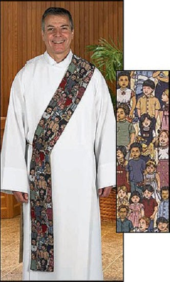 Children of the World Tapestry Deacon Stole by R. J. Toomey