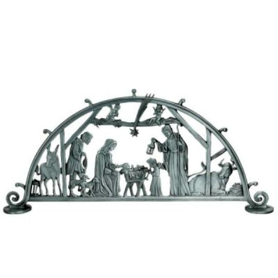 Standing Metal Nativity Scene by Cathedral Art