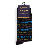 Men's Happy Birthday Novelty Socks Black