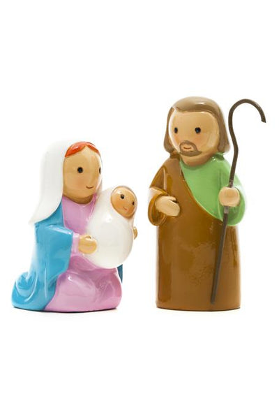 "Nativity Holy Family 2 pc Set 3.5"" Statues - Little Drops of Water Series"