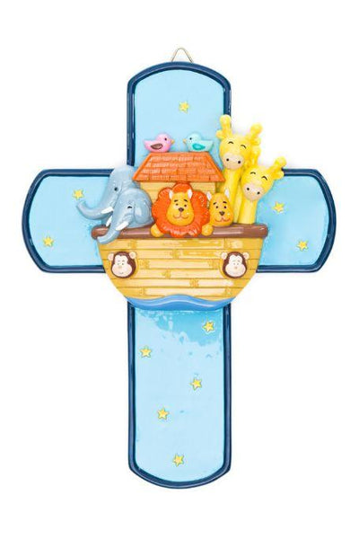 "Noah's Ark 7.5"" Wall Cross by Little Drops of Water 175259YX"