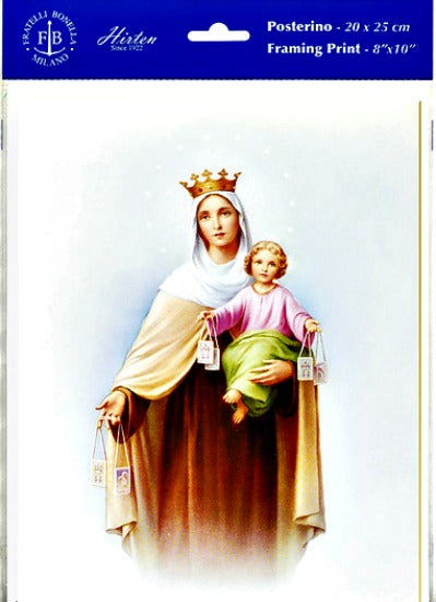 Our Lady of Mount Carmel Unframed Print 8x10 by Fratelli Bonella of Italy