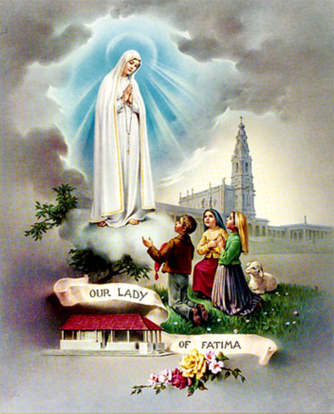 Our Lady of Fatima Unframed Print 8x10 Printed in Italy by Fratelli Bonella