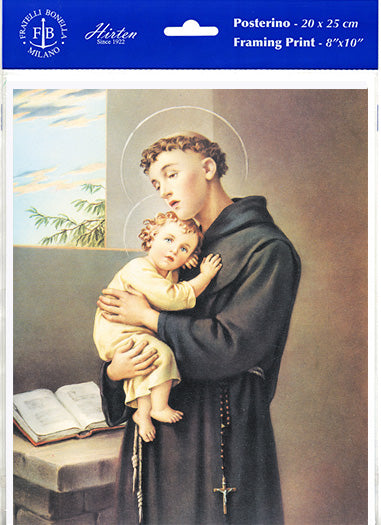 St. Anthony of Padua Unframed Print 8x10 by Fratelli Bonella of Italy P810-300
