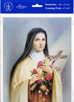 "St. Therese of Lisieux ""The Little Flower"" Unframed Print 8x10"