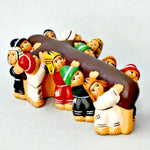 Fair Trade Terracotta Children Carrying Cross Figure Peru - Lent PCRL