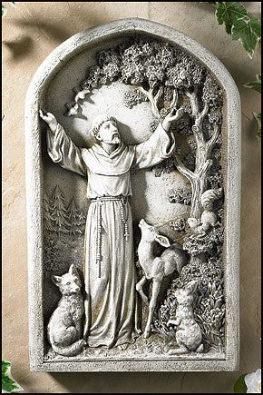 Saint Francis of Assisi Standing Plaque Indoor/Outdoor Use by Avalon Gallery