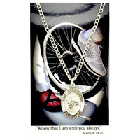 "St. Christopher Sports Medal - Boy's Biking on a 24"" Chain"