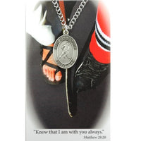 "St. Christopher Sports Medal - Boy's Hockey on a 24"" Chain"