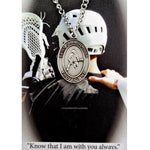 "St. Christopher Sports Medal - Boy's LaCrosse on a 24"" Chain"