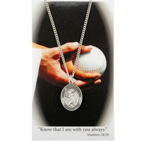 "St. Christopher Sports Medal - Girl's Softball on an 18"" Chain"