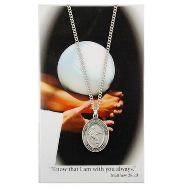"St. Christopher Sports Medal - Girl's Volleyball on an 18"" Chain"