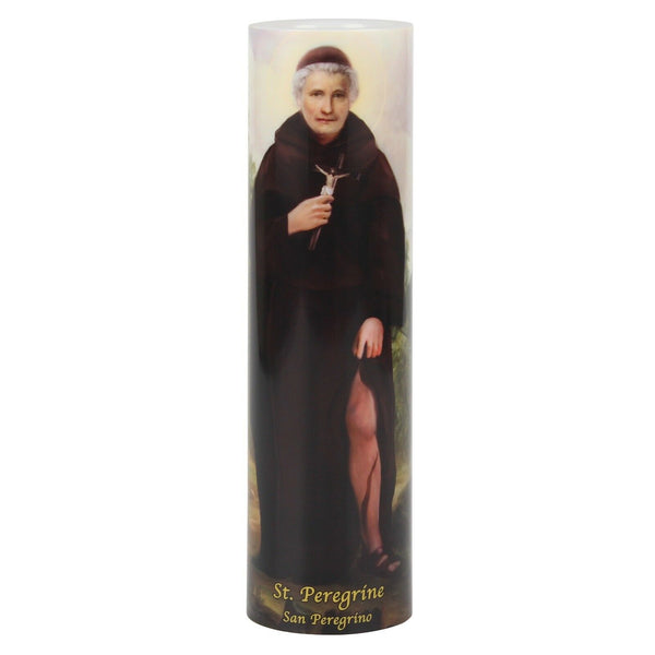 St. Peregrine – LED Devotional Candle by Saints Gift Collection - Patron of Those with Cancer