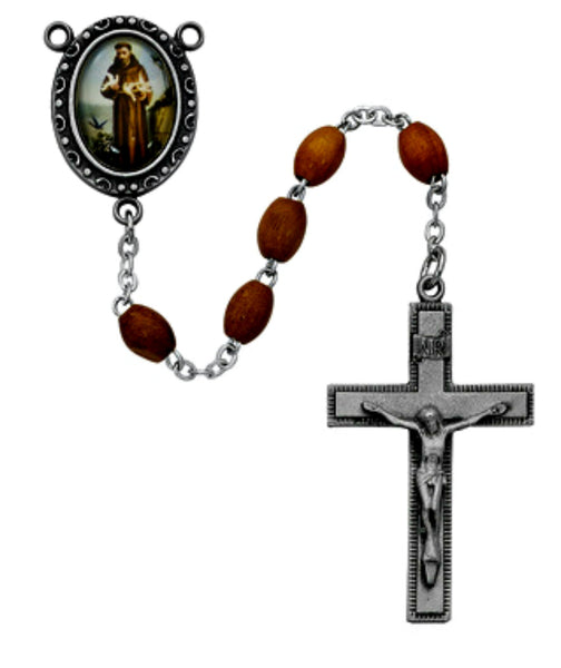 Olive Wood St. Francis of Assisi Rosary McVan R195DF