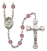 St. Rose of Lima Silver Plate Hand Made Rosary by Bliss Amethyst