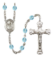 St. Catherine of Siena Silver Plate Hand Made Rosary by Bliss Aqua