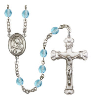 St. Rose of Lima Silver Plate Hand Made Rosary by Bliss Aqua