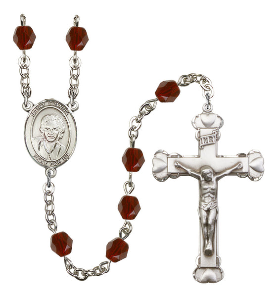 St. Gianna Molla Silver Plate Hand Made Rosary by Bliss Garnet