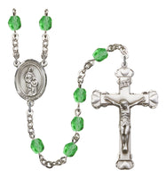 St. Anne Silver Plate Hand Made Rosary by Bliss