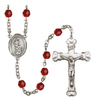 Cecilia Silver Plate Hand Made Rosary Bliss Ruby