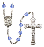 St. Rose of Lima Silver Plate Hand Made Rosary by Bliss Sapphire
