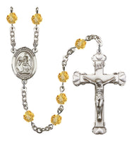 St. Catherine of Siena Silver Plate Hand Made Rosary by Bliss Topaz
