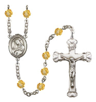 St. Rose of Lima Silver Plate Hand Made Rosary by Bliss Topaz