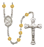 St. Elizabeth Anne Seton Silver Plate Hand Made Rosary- Available in 12 Colors!