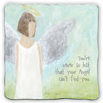 You're Never So Lost That Your Guardian Angel Can't Find You Metal Plaque by Cathedral Art Caroline Simas