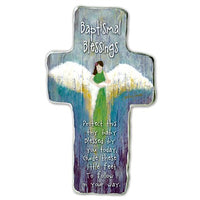 Baptismal Blessings Standing Cross by Caroline Simas Cathediral Art