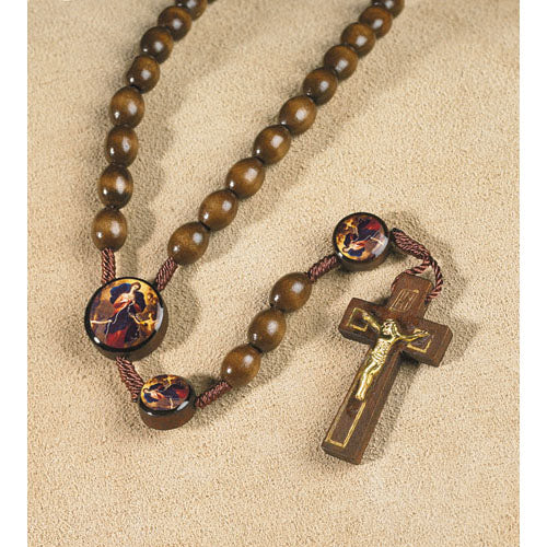 Our Lady Undoer (Untier) of Knots Wooden Rosary
