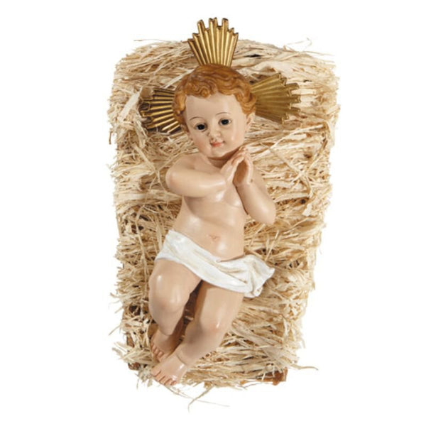 "5"" Infant Jesus with Crib 2pc set  wc345"