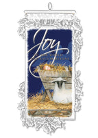 Joy to the World the Savior Reigns Wall Hanging by Heritage Lace - Christmas