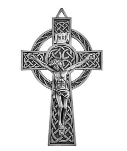 "Celtic 8.5"" Wall Cross NEW Irish Theme YC231 Autom"