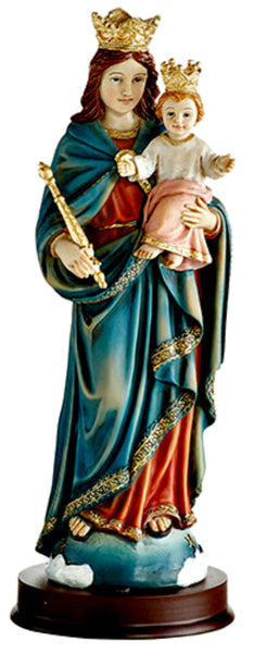 "Mary Help of Christians 8.5"" Statue Autom YC359  UPC886083456848"