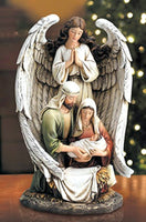 "Guardian Angel & Holy Family 10"" Statue Figure by Avalon Gallery"