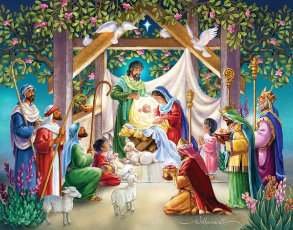 Magi at the Manger Advent Calendar Nativity by Vermont Christmas Company BB744