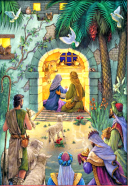 Peaceful Nativity Advent Calendar Nativity NEW Vermont Christmas Company