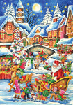 Santa's Here Advent Calendar w/ Twas Night Before Christmas Poem