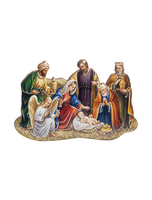 "Nativity with 3 Kings Magi 2"" Wood Magnet or Standing Plaque ITALY"