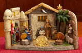 Panorama Nativity with Gold Frankincense & Myrrh - Three King's Gifts
