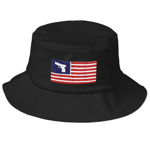 2nd Amendment American Flag Gun Bucket Hat
