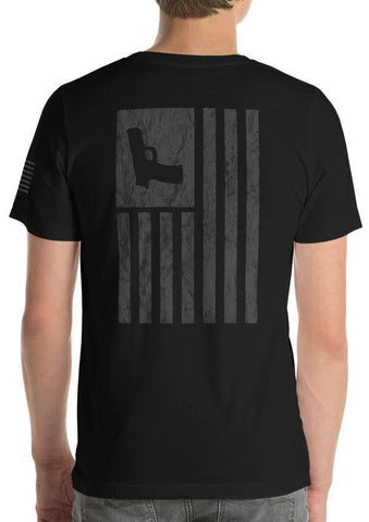 Tactical Blackout Gun Flag T-Shirt
