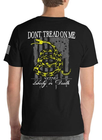 Don't Tread On Me, Liberty Or Death American Flag T-Shirt