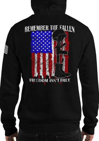 Remember The Fallen, Freedom Isn't Free American Flag Hoodie / Sweatshirt