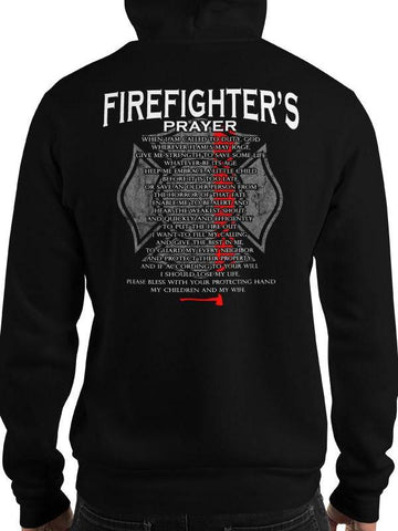 Firefighter's Prayer Thin Red Line Hoodie / Sweatshirt