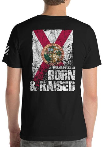 Florida Born and Raised Flag T-Shirt