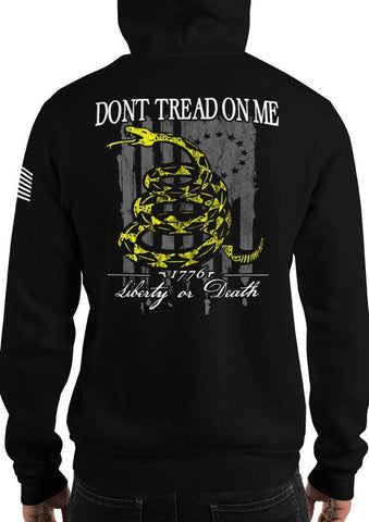 Don't Tread On Me, Liberty Or Death American Flag Hoodie / Sweatshirt