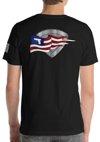 Pilot Patriot American Flag Gun T-Shirt
